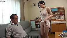 Chubby young wife Tyrou himself making her shagged