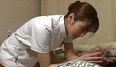 Curvy japanese nurse fucked in missionary porn