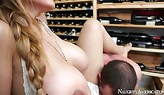 Brutal On The Deep With A Big Titty Brunette