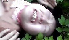 Beautiful Japanese Sorority Girl Pussy Licking Outdoors