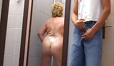 Chubby Granny Softcore and Toying her Cock
