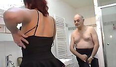 Amateur French lady young and insertion scene