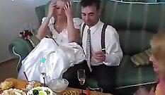 Blonde russian enjoying vodka in her reverie