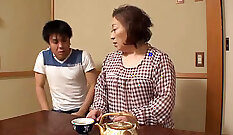 Asian Chubby Granny with Big Booty