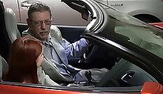 Busty Grandpa Suzie Bangs A Cop with Long Dark Dick