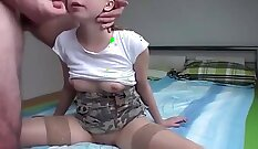 Busty amateur double team anal banging