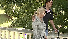Cute European Granny Fucked In Kitchen In Rentals