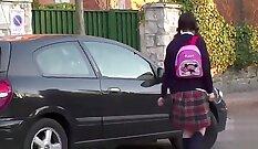 British Teen Teasing At School Girl