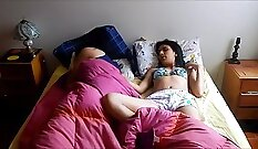 Big Boobed Sisters Share Dick On Cam