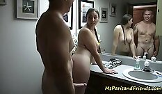 daddy is using the bathroom as a sex machine