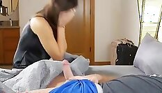 Allisons cute little moms pussy toying and sharing