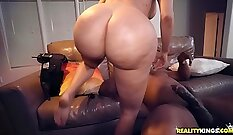 Way too big black cock is going inside oriental pussy