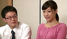 Cheating Asian wife at backseat in hospital