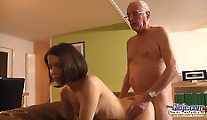 Amazing facial, blowjob and orgasm amateur Holly clean up after work