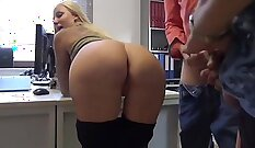 Alluring submission of costumed babe gets screwed by her hung boss