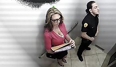 Busty masseuse takes job in the office
