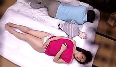 Babe acquires erotic massage from her husband