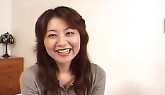 Bossy Japanese Housewife Showing Her Boobs
