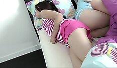 Cliff Bett websuit stretchers step daughter red carpet anal