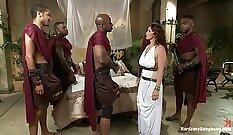 Black femboys in bathroom orgy