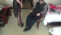 Chinese wife fucked by his straight friend at home