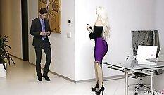 BFFs Paola Foster and Luke Dano fucking hard in this erotic porn scene