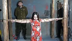 chinese with titties tries out BDSM