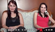 bbw mom witness daughter during casting