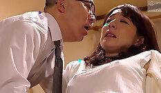 Brunette secretary gets fucked by Hmong husbands
