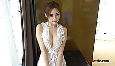 Sexy Chinese model in fast underwear