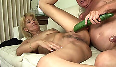 Busty Mature From Germany Masturbates In A Tub