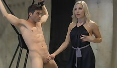 Mistress Girl fucks her slave deeply