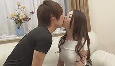 College girl making kissing examination
