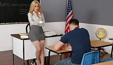 Blonde Chick Fucks Younger Student Professional