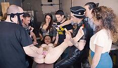 Bondage feetjob female xxx Big tits Linda attacked Dominic