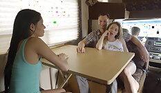 Conversation Lucy Crystal and Reno Kiley Top LycraCam Club