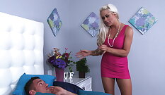 Athletic Step Mom Jessie Morgan Adores Violating her Yummy Tight Jugs Dirty Room