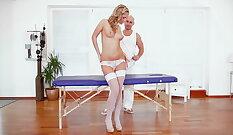 Cute Amateur girl has Massage