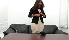 Big Tit Girl Tries Naked in Office