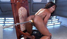 Slutty babe asks a thick and beautiful ebony dick about her pussy
